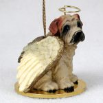 Shar-Pei-Dog-Figurine-Angel-Statue-Hand-Painted-Cream-180675022538