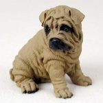Shar-Pei-Hand-Painted-Dog-Figurine-Statue-Brown-400201748296