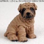 Shar-Pei-Mini-Resin-Dog-Figurine-Statue-Hand-Painted-Brown-180644350068