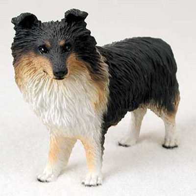 Sheltie-Hand-Painted-Collectible-Dog-Figurine-Tri-Color-180741456068