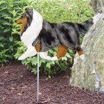 Shetland-Sheepdog-Outdoor-Garden-Dog-Sign-Hand-Painted-Figure-Blue-Merle-181369694991