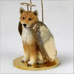 Shiba-Inu-Dog-Figurine-Ornament-Angel-Statue-Hand-Painted-181291492377