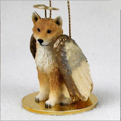 Shiba-Inu-Dog-Figurine-Ornament-Angel-Statue-Hand-Painted-181291492377