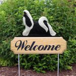 Shih-Tzu-Dog-Breed-Oak-Wood-Welcome-Outdoor-Yard-Sign-BlackWhite-181404212469