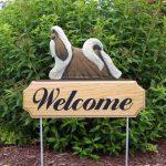Shih-Tzu-Dog-Breed-Oak-Wood-Welcome-Outdoor-Yard-Sign-BrownWhite-400706814883