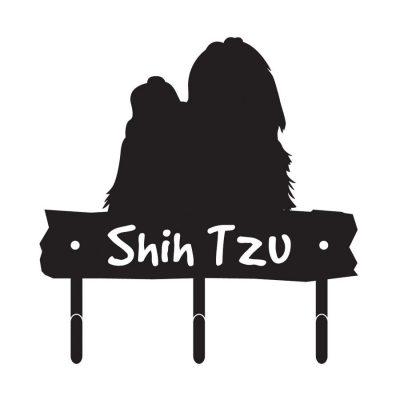 Shih-Tzu-Dog-Breed-Silhouette-Leash-Hook-Holder-Key-Rack-Metal-Figurine-181107039578