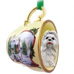 Shih-Tzu-Dog-Christmas-Holiday-Teacup-Ornament-Figurine-White-400589056876