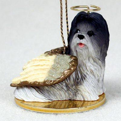 Shih-Tzu-Dog-Figurine-Angel-Statue-GrayWhite-180675022578