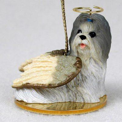 Shih-Tzu-Dog-Figurine-Angel-Statue-Hand-Painted-Mixed-400219976774