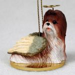 Shih-Tzu-Dog-Figurine-Angel-Statue-Hand-Painted-Tan-180637637368