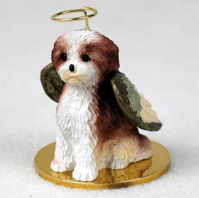 Shih-Tzu-Dog-Figurine-Angel-Statue-Hand-Painted-Tan-Sport-Cut-180637637407
