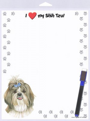 Shih-Tzu-Dog-Memo-Board-Magnetic-Notepad-Sign-Dog-Pen-8x10-400236887917