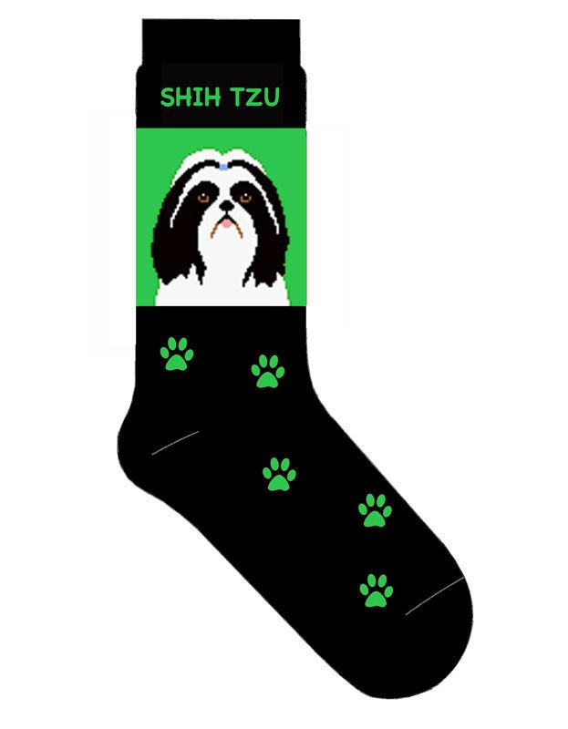 Shih Tzu Socks Lightweight Cotton Crew Stretch