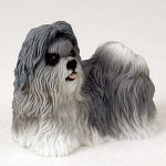 Shih-Tzu-Hand-Painted-Dog-Figurine-Statue-Gray-180638150313