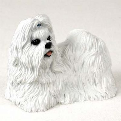 Shih-Tzu-Hand-Painted-Dog-Figurine-Statue-White-400282955122