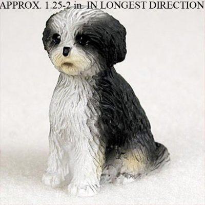 Shih-Tzu-Mini-Resin-Dog-Figurine-BlackWhite-Puppy-Cut-400205071281