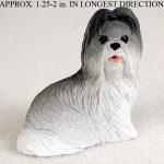 Shih-Tzu-Mini-Resin-Dog-Figurine-Statue-Hand-Painted-GrayWhite-400205071290