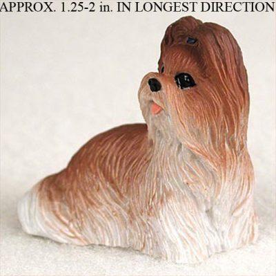 Shih-Tzu-Mini-Resin-Dog-Figurine-Statue-Hand-Painted-Tan-180644350218