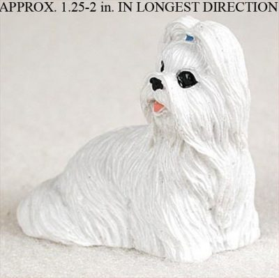 Shih-Tzu-Mini-Resin-Dog-Figurine-White-180644350245