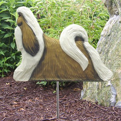 Shih-Tzu-Outdoor-Garden-Dog-Sign-Hand-Painted-Figure-GoldWhite-400688320627