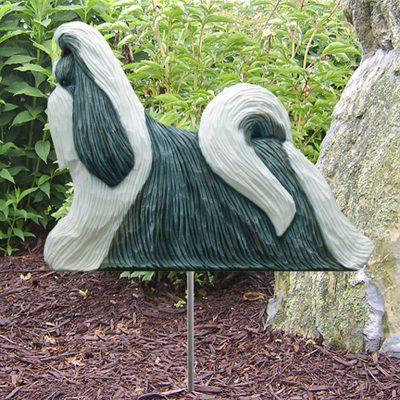 Shih-Tzu-Outdoor-Garden-Dog-Sign-Hand-Painted-Figure-SilverWhite-181369728802