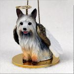 Silky-Terrier-Dog-Figurine-Ornament-Angel-Statue-Hand-Painted-400288212690
