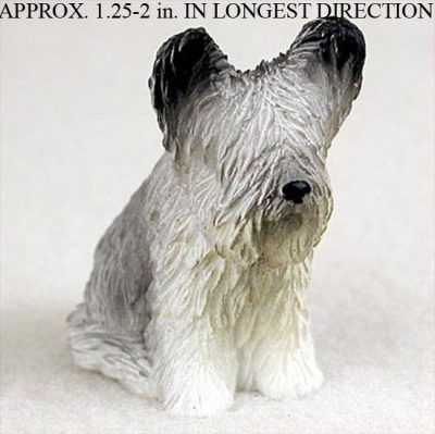 Skye-Terrier-Collectible-Mini-Resin-Hand-Painted-Dog-Figurine-181350375243