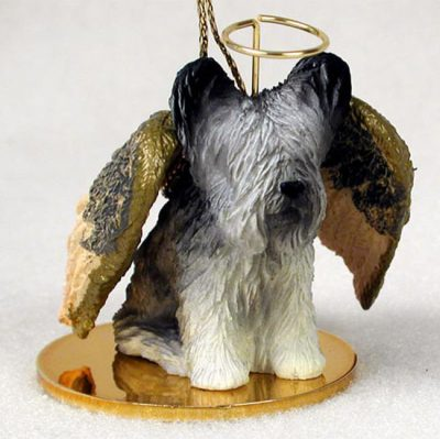Skye-Terrier-Dog-Figurine-Angel-Statue-Hand-Painted-180637637460