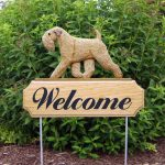 Soft-Coated-Wheaten-Dog-Breed-Oak-Wood-Welcome-Outdoor-Yard-Sign-400706817394