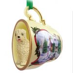 Soft-Coated-Wheaten-Dog-Christmas-Holiday-Teacup-Ornament-Figurine-400589370799