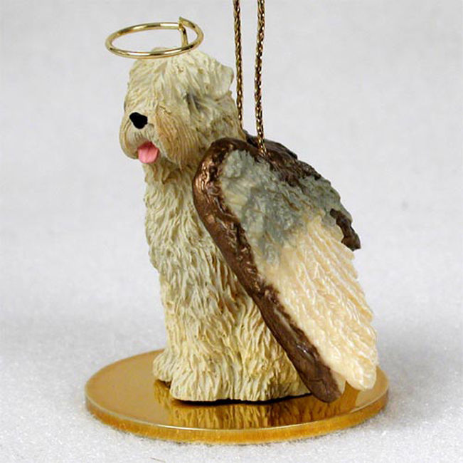Soft Coated Wheaten Terrier Ornament Angel Figurine Hand Painted
