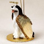 Springer-Spaniel-Dog-Figurine-Ornament-Angel-Statue-Hand-Painted-LiverWhite-400671435227