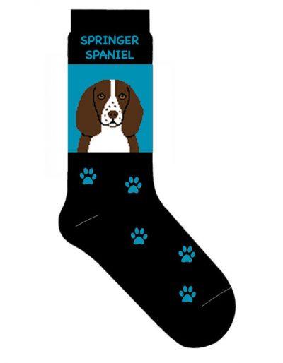 Springer Spaniel Socks Lightweight Cotton Crew Stretch