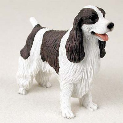 Springer Spaniel Figurine Hand Painted Collectible Statue