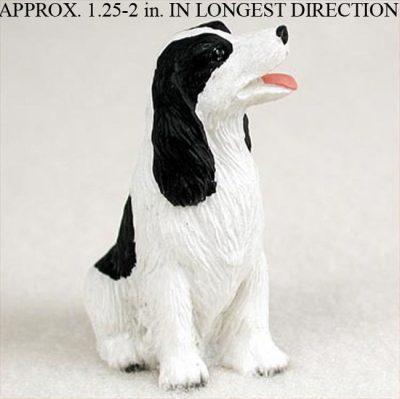 Springer-Spaniel-Mini-Resin-Hand-Painted-Dog-Figurine-Statue-Blk-400249635029