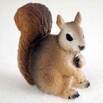 Squirrel-Mini-Resin-Hand-Painted-Wildlife-Animal-Figurine-Red-181244577201