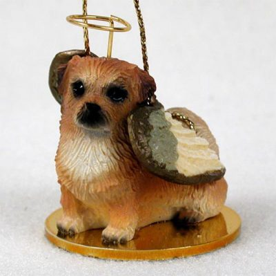 Tibetan-Spaniel-Dog-Figurine-Angel-Statue-Hand-Painted-180637637531