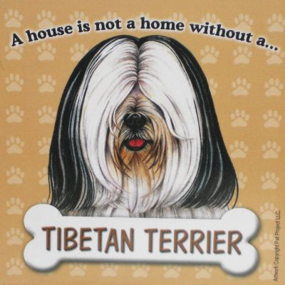 Tibetan-Terrier-Dog-Magnet-Sign-House-Is-Not-A-Home-WhtBlk-181480389794