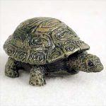 Turtle-Mini-Resin-Hand-Painted-Wildlife-Animal-Figurine-181244578185