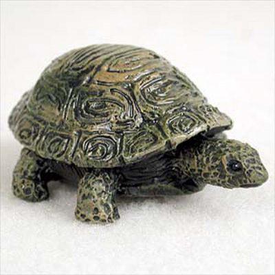 Turtle-Mini-Resin-Hand-Painted-Wildlife-Animal-Figurine-181244578185