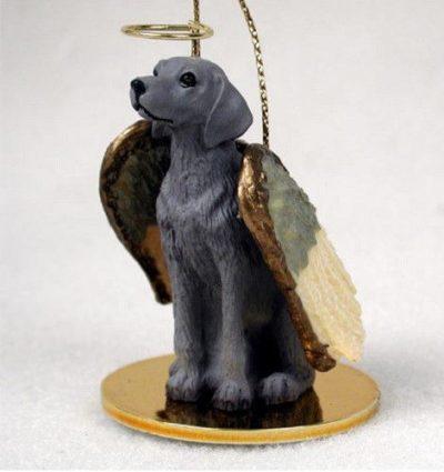 Weimaraner-Dog-Figurine-Ornament-Angel-Statue-Hand-Painted-400671444014