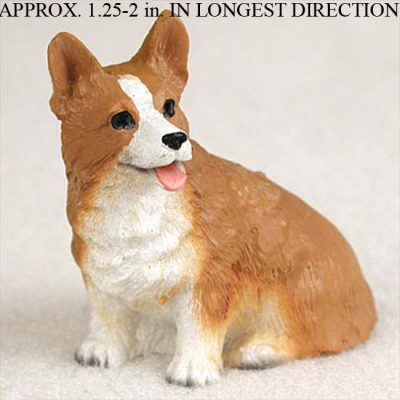 Welsh-Corgi-Mini-Resin-Hand-Painted-Dog-Figurine-Pembro-400677546388
