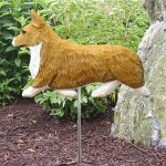 Welsh-Corgi-Pembroke-Outdoor-Garden-Dog-Sign-Hand-Painted-Figure-Blonde-181369739989