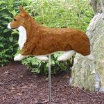 Welsh-Corgi-Pembroke-Outdoor-Garden-Dog-Sign-Hand-Painted-Figure-Red-400688323076