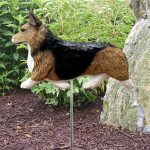 Welsh-Corgi-Pembroke-Outdoor-Garden-Dog-Sign-Hand-Painted-Figure-Sable-181369741393