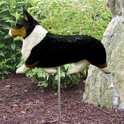 Welsh-Corgi-Pembroke-Outdoor-Garden-Dog-Sign-Hand-Painted-Figure-Tri-400688323401