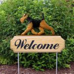 Welsh-Terrier-Dog-Breed-Oak-Wood-Welcome-Outdoor-Yard-Sign-181404217705