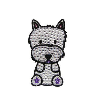 Westie-Dog-Rhinestone-Glitter-Jewel-Phone-Ipod-Iphone-Sticker-Decal-181132394013