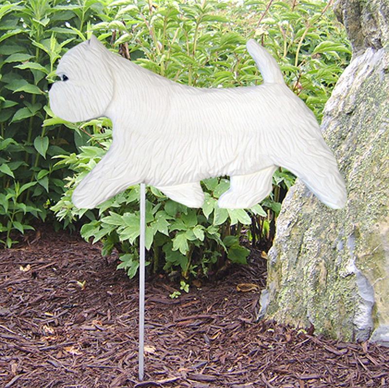 Great Westie Angel Statue Concrete West Highland Terrier Cement