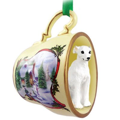 Whippet-Dog-Christmas-Holiday-Teacup-Ornament-Figurine-White-180738064286